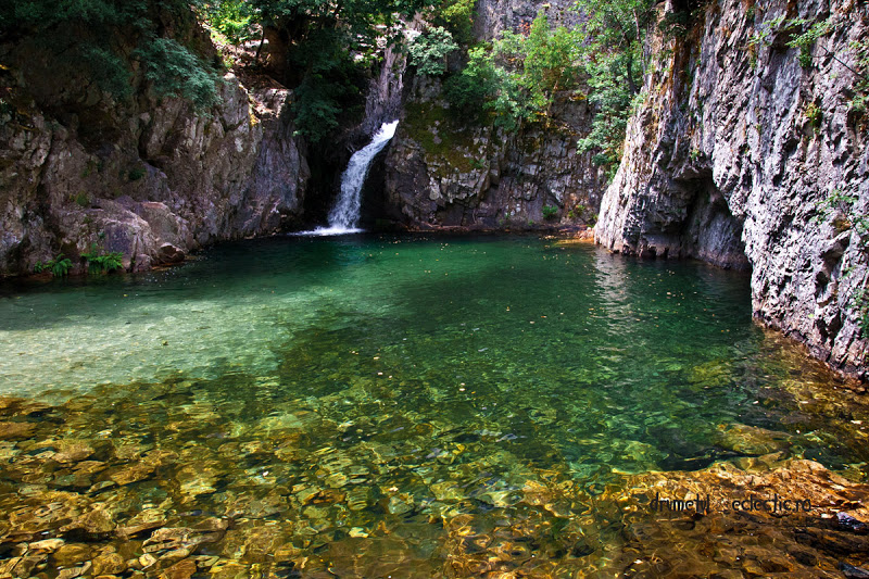 Samothraki Greece Fonias river legend waterfall Poseidon nymphs oceanides nereides oreades Gaia mountain water