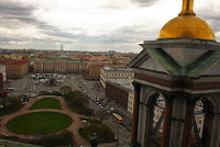church cathedral St Petersburg Russia isakievskaya square panorama