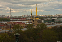 church cathedral St Petersburg Russia neva admiralty panorama skyline