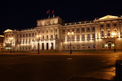 Russia St Petersburg city hall Leningrad light summer