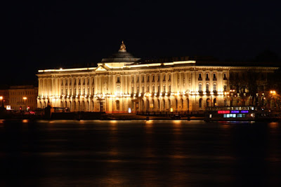 Russia St Petersburg Leningrad night Neva light summer architecture