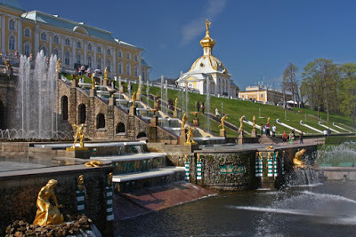 St Petersburg Russia city-break palace Petrodvorets lower gardens Peter Great summer residence Baroque