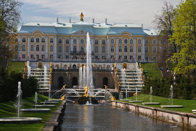 St Petersburg Russia city-break lower gardens Petrodvorets Peter Great palace summer residence Baroque fountain