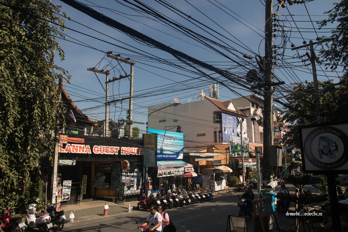 Chiang Mai Thailand cables photo
